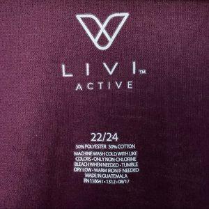 Livi Active Tops - Livi Active Purple Top